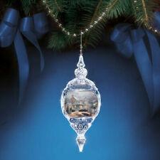 Thomas Kinkade Christmas Crystal Together at Home Ornament 2014