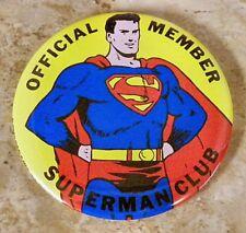 Superman Club Pinback