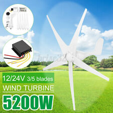 5200W Max Power Wind Turbines Generator 5 Blades DC12V w/Charge Controller
