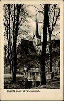 Saalfeld Saale Thüringen DDR s/w AK 1955 Blick auf die St. Gertrudis Kirche