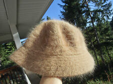 David and Young 100% Angora Beige Hat!