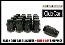 16 EZ-GO CLUB CAR GOLF CART BLACK LUG NUTS | 1/2X20 CLOSED END FOR GOLF CARTS