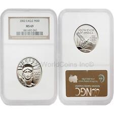 USA 2002 Eagle $50 1/2 oz Platinum NGC MS69