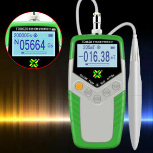 Tesla Gauss Meter Digital Magnetic Field Tester Magnetic Flux Meter W/Hall Probe