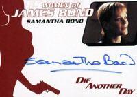 James Bond Mission Logs Women of James Bond Samantha Bond Autograph Card WA38
