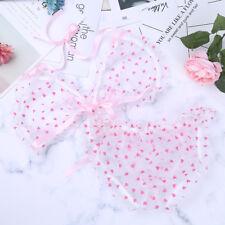UK - 2pcs Sissy Men Sheer Lingerie Lace Top Bra Set Brief Thong Bikini Underwear