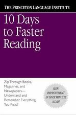 10 Days to Faster Reading by Abby Marks-Beale and Princeton Language Institute S