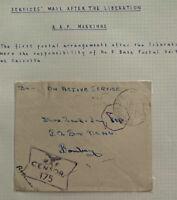 1944 RAF Base In Calcutta India OAS Censored Cover To Bombay
