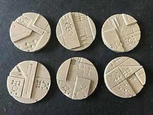 50mm Space Tech resin bases, Qty 2-10 unpainted, by Daemonscape