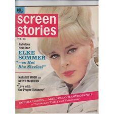 FEB/1964 Screen Stories Elke Sommer/Maureen O'Sullivan/Salem ad bc FREE SHIP