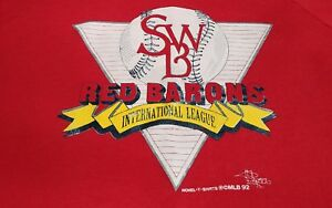 VTG Scranton Wilkes Barre Red Barons Baseball Yankees Mens Sweatshirt Large A639