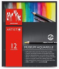 CARAN D'Ache museo AQUARELLE SOFT Acquerello Matita Set - 12 colori assortiti