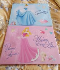 2 Disney Princess Canvases