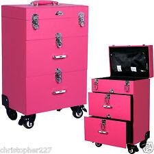 Professional Makeup Trolley Case Box OPI Nail Polish Manicure Organizers Storage