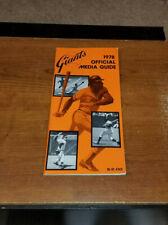 1978 SAN FRANCISCO GIANTS BASEBALL PRESS MEDIA GUIDE