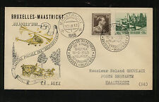 Belgium  helicopter flight cover 1953         MS0930