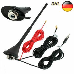 DAB Antenne AM FM Dachantenne DAB+ Autoantenne Verstärker SMB DIN Kombi-Antenne.