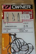Owner Cutting Point Worm  Saver Hook Size 2/0