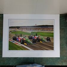 Benetton Formula 1 Signed by Nannini and Piquet 18 of 750, 1990, unframed