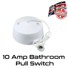Ceiling Pull Cord Switch 10A 2 Way Bathroom  Light Switch *UK Seller*