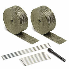 DEI 010095 Titanium V6 V8 Exhaust Pipe / Header Heat Wrap Kit & Locking Tie Tool