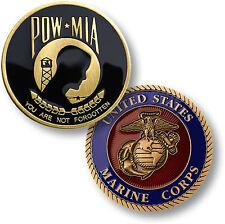 U.S. Marine Corps - POW MIA / You Are Not Forgotten - USMC Challenge Coin