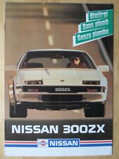NISSAN 300ZX rare Swiss market multi language brochure - 1986 - 300 ZX