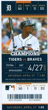 2013 Tigers vs Braves Ticket: Omar Infante went 3-for-4 with a two-run homer