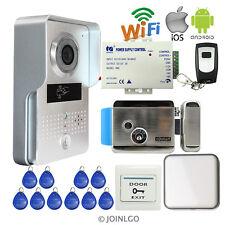 RFID Wifi Video Intercom Doorbell Camera for IOS Android Phone + Electric Lock