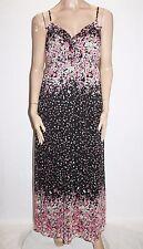 JAY JAYS Brand Black Floral Chiffon Maxi Dress Size 16-XL BNWT #Si36