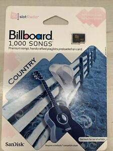 SanDisk BILLBOARD 1,000 SONGS Slot Radio Micro SD card COUNTRY new on card