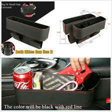 ABS+PU Leather Car Seat Gap Catcher Filler Storage Box Pocket Organizer Holder