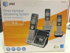 Three Handset Answering System With Caller Id By At&T D3