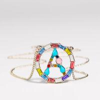Bunte CZ Halskette Anhänger des Briefes Zirconia cubic Multicolor CZ Kristall