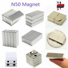20-100X N50 Minii Neodymium Block Magnets Cuboid Hole Rare Earth Magnet eB4qF2C
