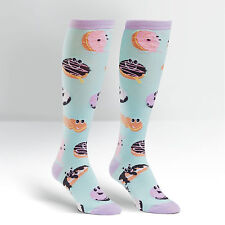 Sock It To Me Women's Funky Knee High Socks - Dough-Eyed