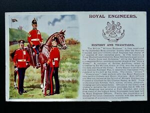 History & Tradition THE ROYAL ENGINEERS c1915 Postcard by Gale & Polden No.107b