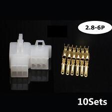 10 Stück/ Satz 2.8mm 6 Stecker Motorrad Teile elektrisch Kabel Crimp Verbindung