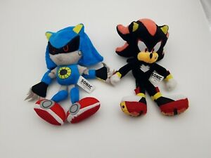 "Authentic Jazwares! Sonic The Hedgehog - 8"" Metal Sonic and Shadow Plush"