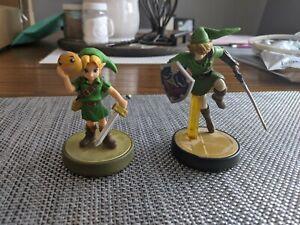 Zelda Amiibo Lot: Majora's Mask Link, Smash Bros. Link - Adult Owned