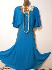 JOANNA HOPE 20'S GATSBY FLAPER CHARLESTON BEAD SEQUIN EMBELLISED DRESS+SHRUG 14
