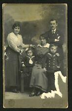 1900s Vintage Cabinet Krzanowski Photo CZERNOWITZ Familly Portrait 16x10 cm