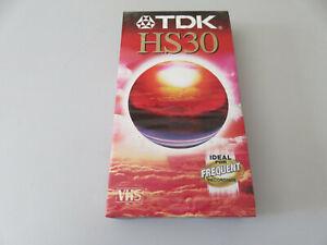 """Videocassetta VHS VERGINE 30"""" - TDK HS30 alta qualità - niova sigillata"""