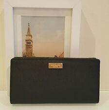 NWT Kate Spade Stacy Laurel Way Black Leather Wallet WLRU2673 $119