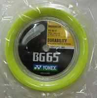YONEX BG65 BG-65 200 m Coil Badminton String BG65-2, YELLOW, 100% Genuine