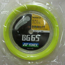 YONEX BG65-2 BG-65 BG65 200 m Coil Badminton String, YELLOW, 100% Genuine