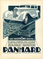 """""""PANHARD"""" Annonce originale entoilée MIROIR DU MONDE années 30 30x39cm  A. KOW"""