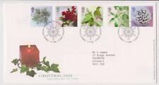 Bethléem pcm gb royal mail fdc premier jour housse de noël 2002 plantes stamp set