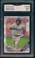 WANDER FRANCO 2019 1st Bowman Prospects Rays Rookie Card RC GMA 10 GEM MINT