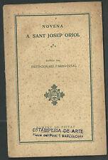 Novena antigua de San Jose Oriol andachtsbild santino holy card santini